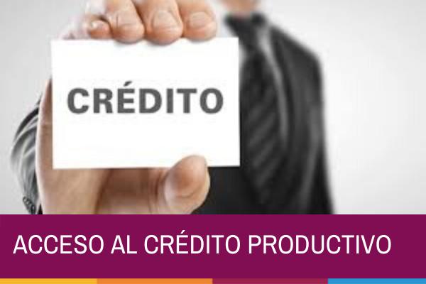 ACCESO AL CRÉDITO PRODUCTIVO