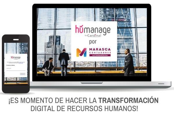 Inicie la transformación digital de RECURSOS HUMANOS con HUMANAGE!